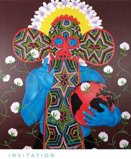 Marc Padeu, Terre Noire, Mer Rouge, 2017, acrylique sur toile, 160x140 cm, collection privée Bost-Chambon, crédit photographique : agence Bilto Ortega