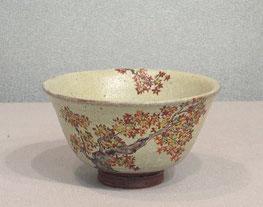九谷焼絵付抹茶碗