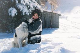 Hundefotografin mit ihrem Hund