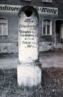 Bild: Wünschendorf Erzgebirge Halbmeilenstein
