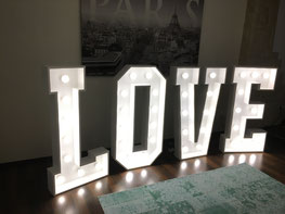 Loveletter Highlight XXL Love Buchstaben