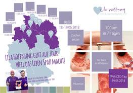 Lila Hoffnung Darmkrebshilfe CED Veranstaltungen