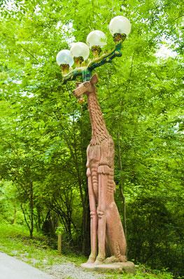 Деревянный фонарь-олень Утлиберга