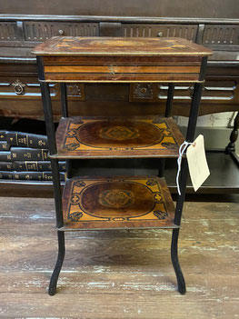 English Inlaid Side Table with Drawer $249.00