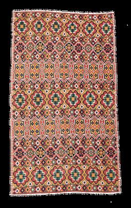 Swedischer Teppich, Zürich. Vintage Rollakan, Sweden, Rölakan, antiker gewobene teppich