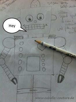 Roboter; Bastelidee; Roboter basteln; Caballo Couture; Roboter bauen; DIY Roboter