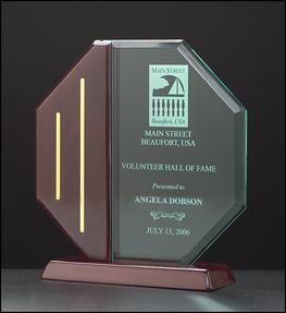 octagon series acrylic award