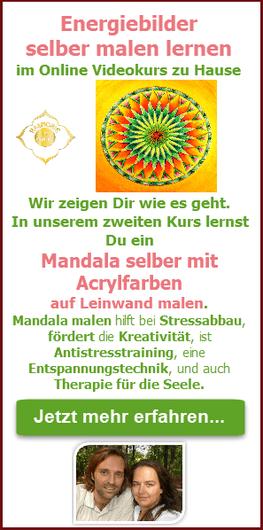 Energiebilder selber Malen - Kreativität entdecken im Online Malkurs Mandala