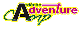 logo adventure camp Grospierres Ardèche