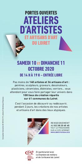 Claude Rossignol - Affiche Portes ouvertes Ateliers d'Artistes 2020