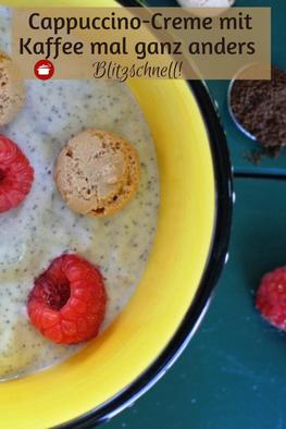 Cappuccino-Creme mit gemahlenem Kaffeepulver