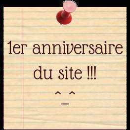 1er anniversaire du site - blog marie fananas écrivain