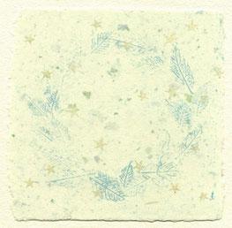 starsⅡ 手漉和紙に銅版画