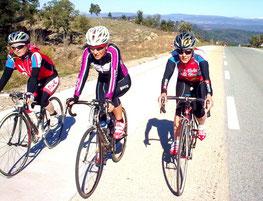 Mag', Chantal et Flo sur la voie rapide (manque Arlette)