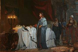 """""""Воскресіння доньки Іаіра"""", І. Рєпін. 1871 р."""