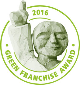Green Franchise Award-Logo des DFV Deutscher Franchise Verband e.V.