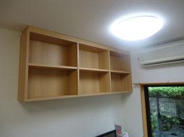 書棚の取付完了!