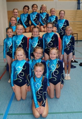 Die Siegerinnen der Gau-Mannschaftsmeisterschaften im BIZ. Foto: TG Osthofen