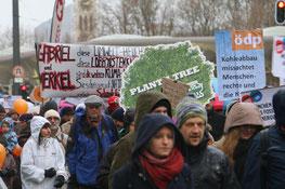 Der Marsch begann an der Müncner Freiheit
