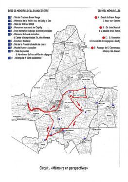(DR) Circuit Mémoire en perspectives-Val de Somme-Grande Guerre-Somme Battlefield's Partner-CASA Chambres d'hôtes-Corbie-Villers Bretonneux-Mémorial National Australien-Amiens