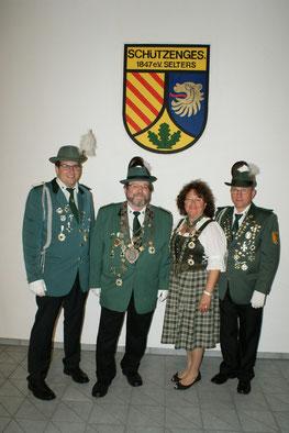 v.l.n.r.: Christian Sturm, Udo Gewehr, Lisa Frank, Peter Frank