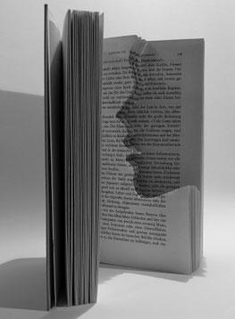 Bild: Kopf Text Buch Leser offenes Buch Buchseite