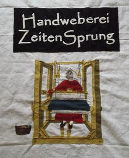 Handgemachtes Banner von ZeitenSprung, inspiriert von den 12 Bruder Handschriften, aber nach freiem Entwurf gearbeitet