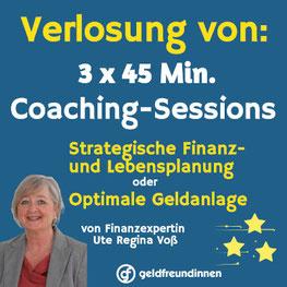 Finanz-Coaching zu gewinnen frau&vermögen Ute R. Voß
