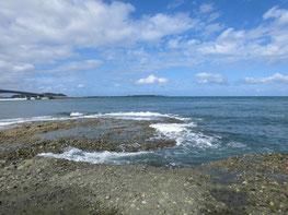浅場の釣り場の写真