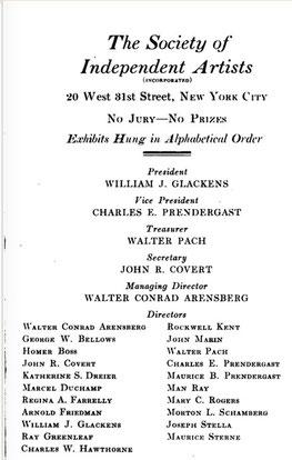 Escaneado documento exposición inaugural de la Sociedad de Artistas Independientes Americanos
