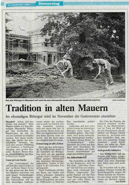 Presseartikel Lausitzer Rundschau 19.09.1996