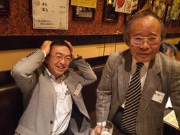 ※写真右が、坂本先生。立命館APUの創設者で初代学長をつとめられました。