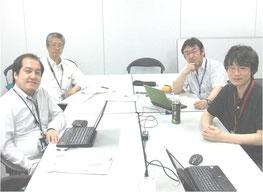 産総研CSP/CONPASUプロジェクトの仲間たちと(右列後ろが田中)。