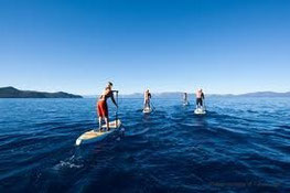 SUP Ausflug auf dem See - Stand Up Paddle Boardtest