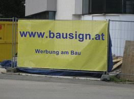 Bauzaun Werbung