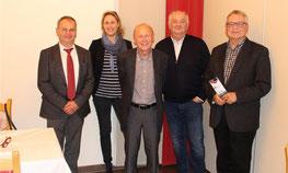 von links: Hans Herl, Charlotte v. Schelling, Dr. Peter Deml, Josef Schönhammer, Hans Fischer
