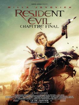 Resident Evil - Chapitre Final de Paul W.S. Anderson / 2016 - Horreur