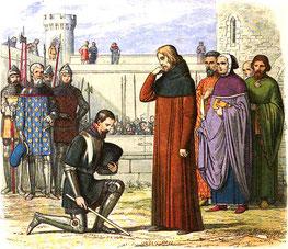 Richard Bolinbroke réclamant son héritage.Par James William Edmund Doyle«Richard II» dans A Chronicle of England: B.C. 55 – A.D. 1485, Londres : Longman, Green, Longman, Roberts & Green