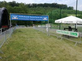 Der Start-Ziel-Bereich auf dem Sportplatz im Hespel wird sich am 30.05. wieder mit vielen Startern füllen ....