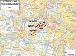 Emprise du projet RD910 - Grande rue Sèvres, les infrastructures pour demain.