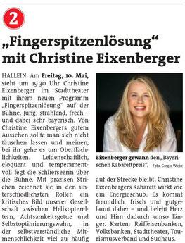 SalzSpiele Kabarett Christine Eixenberger - Fingerspitzenlösung