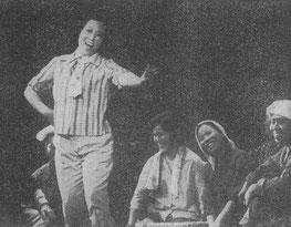 歌劇「沖縄」で、きよ子を演じる中沢桂氏