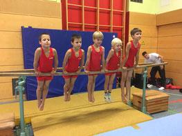 Die Turner Jungen F, Maximilian und Alexander Zoubkoff, Leo Eisleben, Lurk Rückert und Ilja Rolsing Foto: Peter Siefert