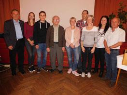 Martin Krausbauer, Luane Leyn, Elias Meder, Eckard Saurski, Silvia Herrmann, Walter Sommer, Heidi Schwenk, Birgit Stenzel und Roland Wallter