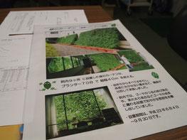 夏場のグリーンカーテンの説明資料