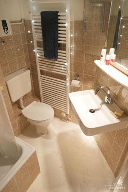 Badezimmer Teilsanierung - Modernisieren mit Stil - Fugenlose Bodengestaltung Wandbelag Kalk Wunderbar Zürich
