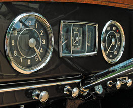 1950 Mercedes Benz 170S W136 インパネ中央にアナログ時計