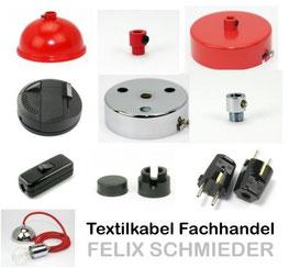 Leuchtenteile Sammelbild Textilkabel Fachhandel Felix Schmieder