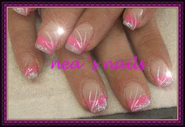 Neon-French mit Glitter