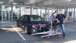 Ideale Transportmöglichkeit: Dreirad Heckträger fürs Auto